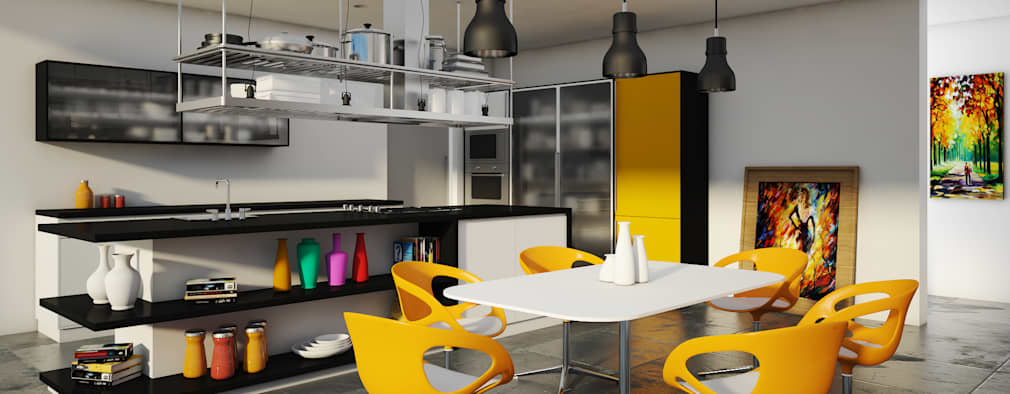 modern Kitchen by SK ARCHITECTURAL VISUALIZATION