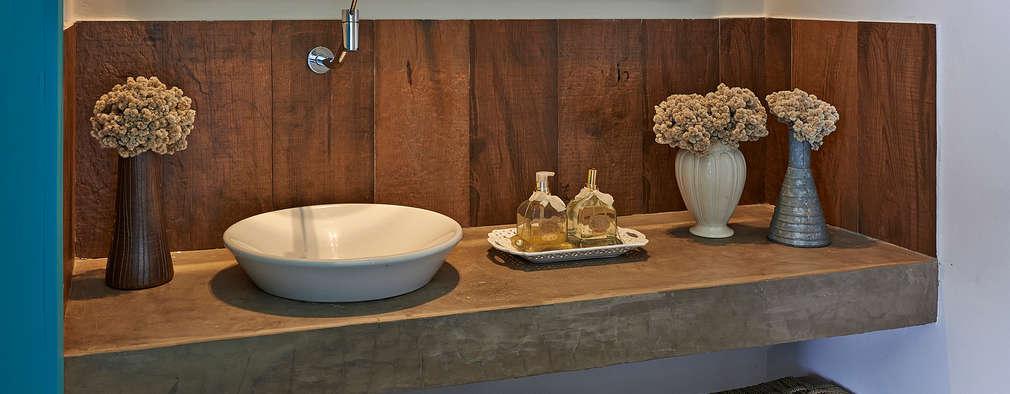 Baños de estilo rústico por Beth Marquez Interiores