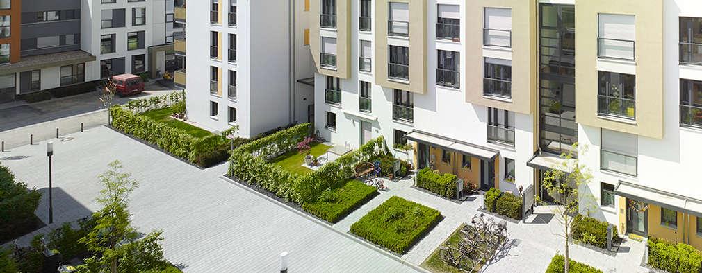 Vorgebirgsgärten Wohnungsbau Köln: moderne Häuser von Planquadrat   Elfers Geskes Krämer