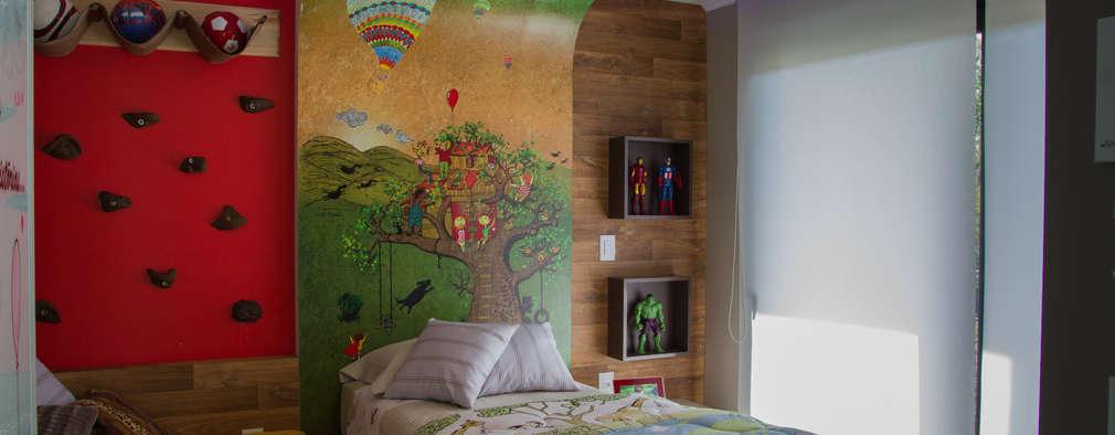 Cuartos infantiles de estilo moderno por Tuti Arquitetura