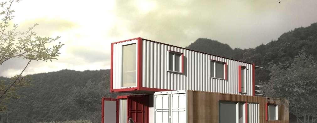 Casas de estilo moderno por thinkTREE Architects and Partners