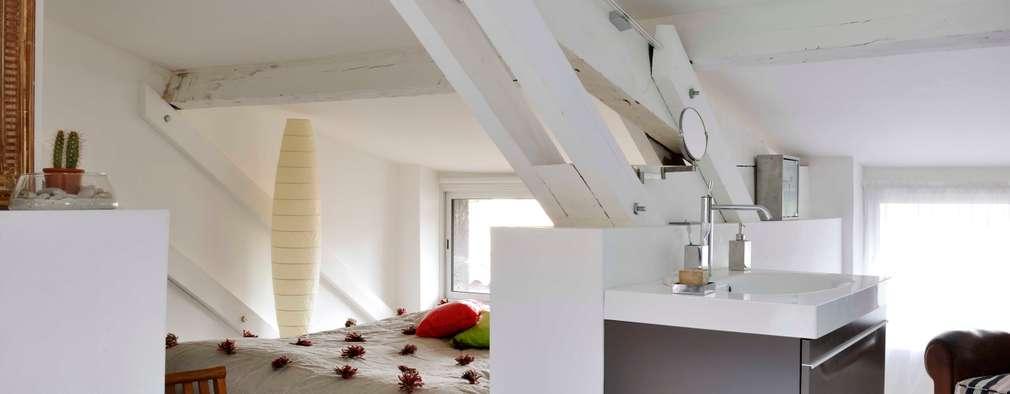 coin nuit: Chambre de style de style Minimaliste par Loftsdesign