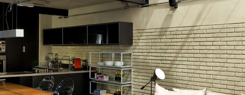 industrial Living room by DIEGO REVOLLO ARQUITETURA S/S LTDA.