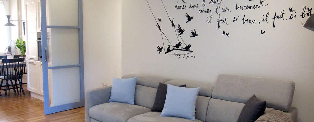 33 ideas para renovar tu casa con poco dinero - Como pintar un salon en dos colores ...