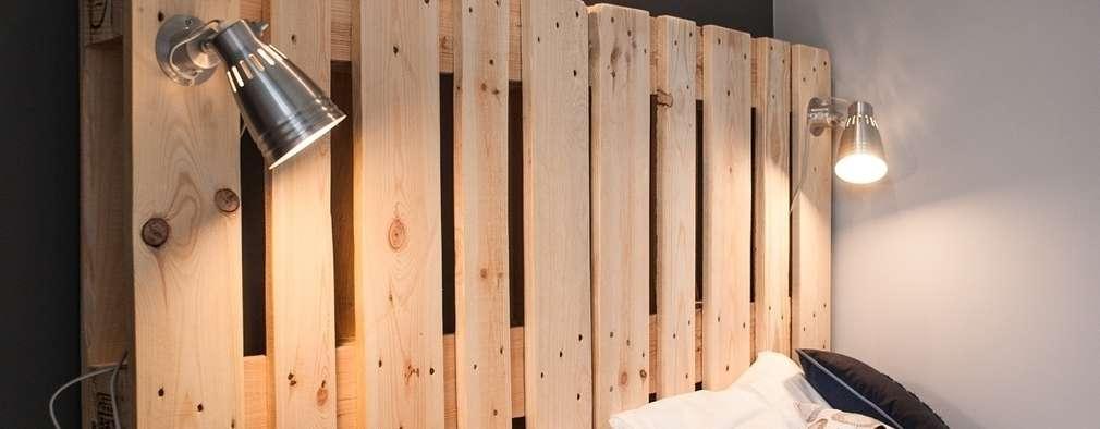 Habitaciones de estilo escandinavo por Raca Architekci
