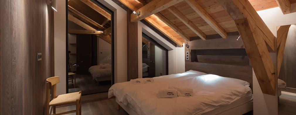 Спальни в . Автор – Chevallier Architectes