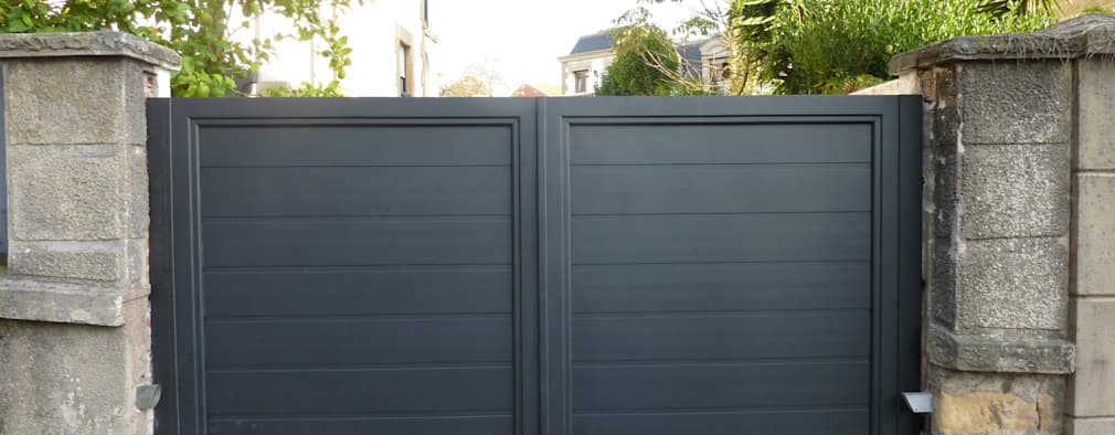 12 puertas de garaje modernas a prueba de ladrones - Puerta garaje abatible ...