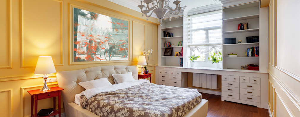 U-Style design studio: eklektik tarz tarz Yatak Odası