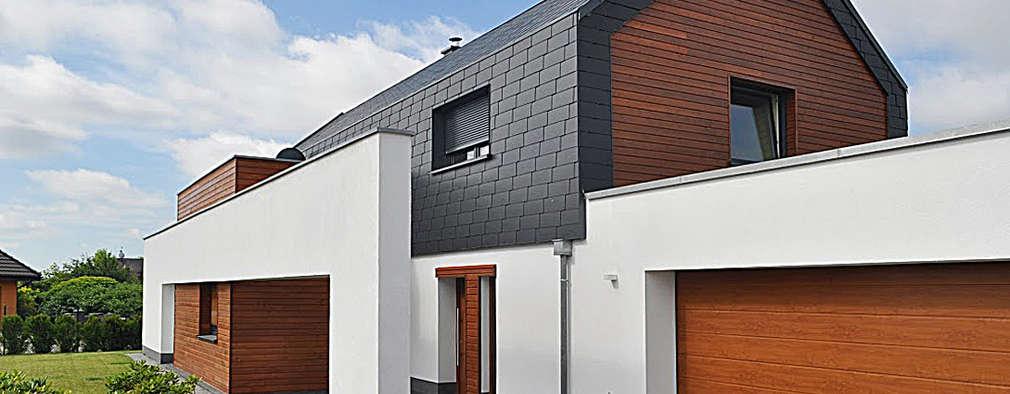 Willa w Kłodawie: styl nowoczesne, w kategorii Domy zaprojektowany przez STRUKTURA Łukasz Lewandowski