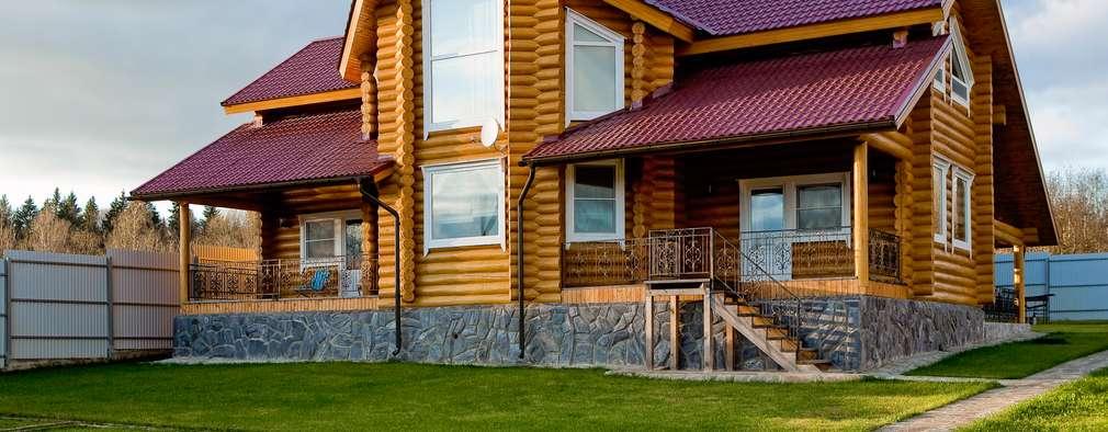 Дом из сруба, Ново-Рижское шоссе: Дома в . Автор – Amazing Studio Светланы Панариной