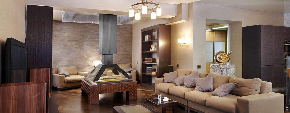 Зона домашнего кинотеатра: Гостиная в . Автор – Baydyuk Design Company
