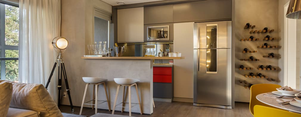 14 ideas para integrar sala comedor y cocina de manera for Decoracion de sala comedor y cocina