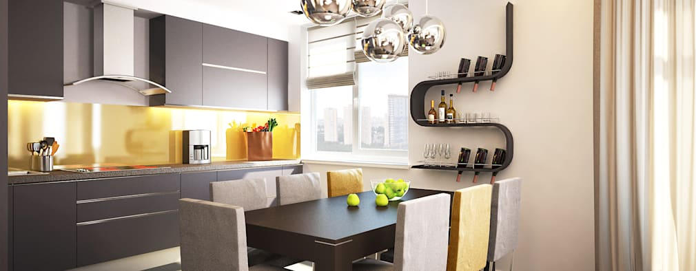 minimalistic Kitchen by Polovets design studio