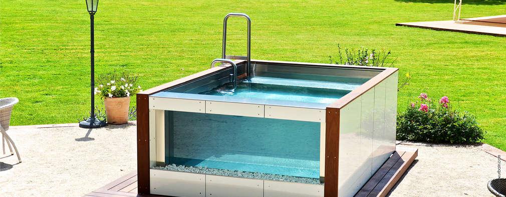 15 piscinas para espa os de exterior pequenos for Piscinas para patios pequenos