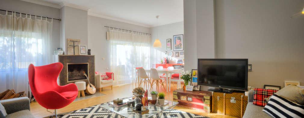 غرفة المعيشة تنفيذ Santiago | Interior Design Studio