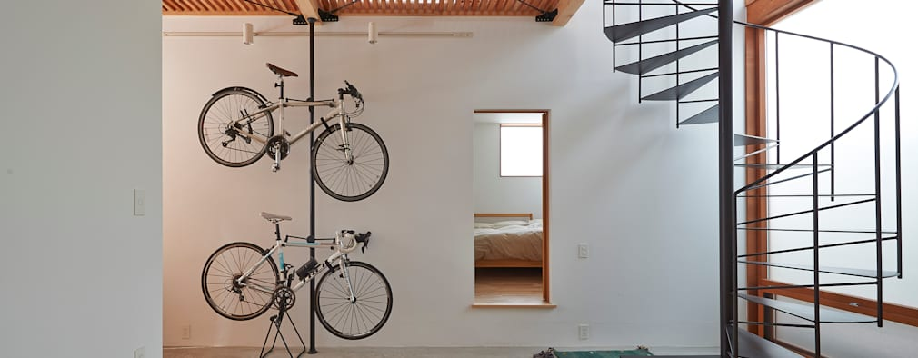 Corridor & hallway by (有)菰田建築設計事務所