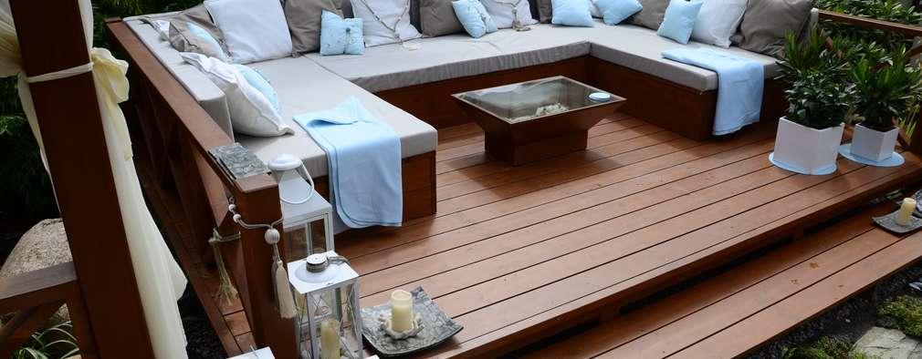 Zabudowa ogrodowa - podest wypoczynkowy.: styl , w kategorii  zaprojektowany przez CAROLINE'S DESIGN