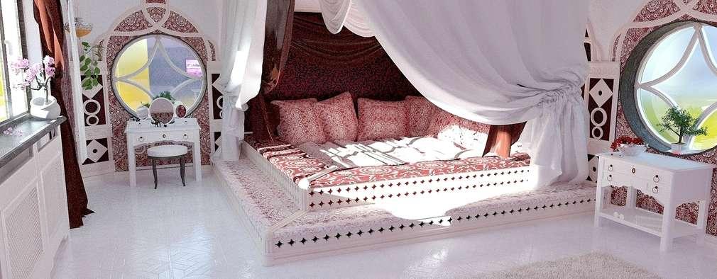 Chambre de style de style Asiatique par Nada-Design Студия дизайна.