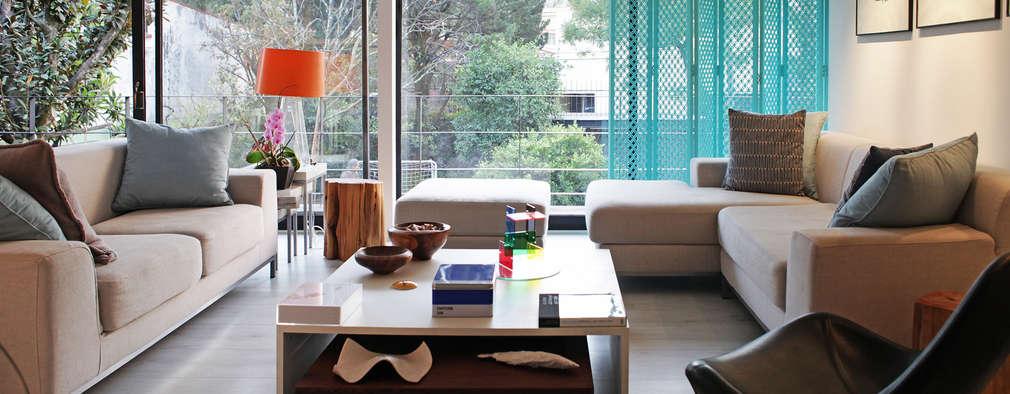 Livings de estilo moderno por DF ARQUITECTOS