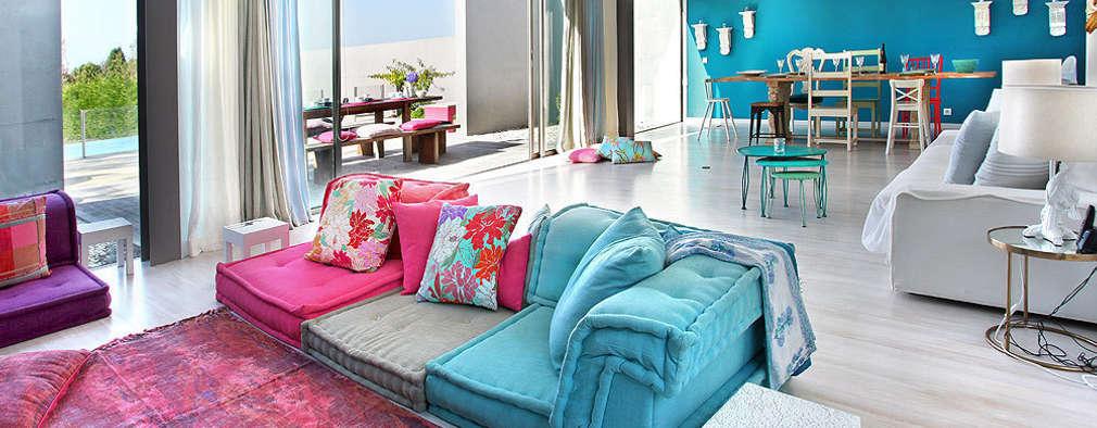 Livings de estilo mediterraneo por ROSA PURA HOME STORE