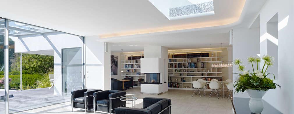 minimalistische Woonkamer door Gritzmann Architekten