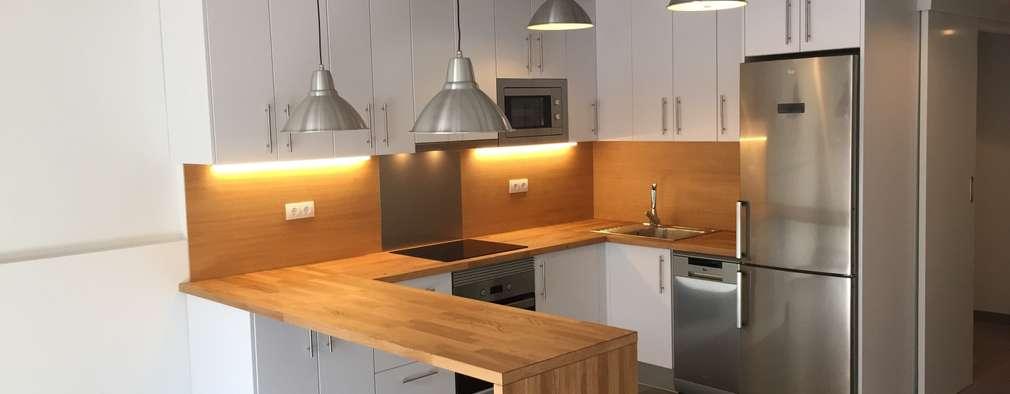 8 barras de madera para una cocina perfecta Barra cocina madera
