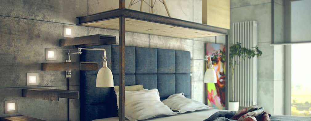 industrial Bedroom by ToTaste.studio