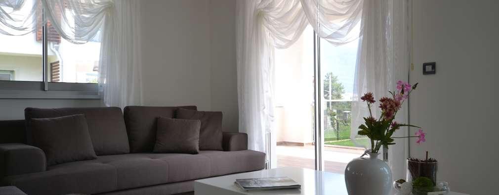 ห้องนั่งเล่น by AKTİF PERDE