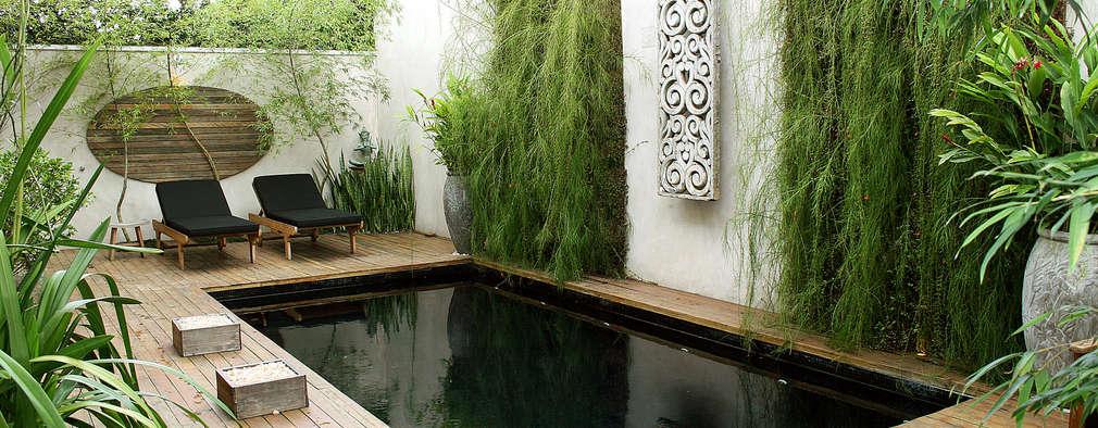 Jardines de estilo asiático por Quadro Vivo Urban Garden Roof & Vertical