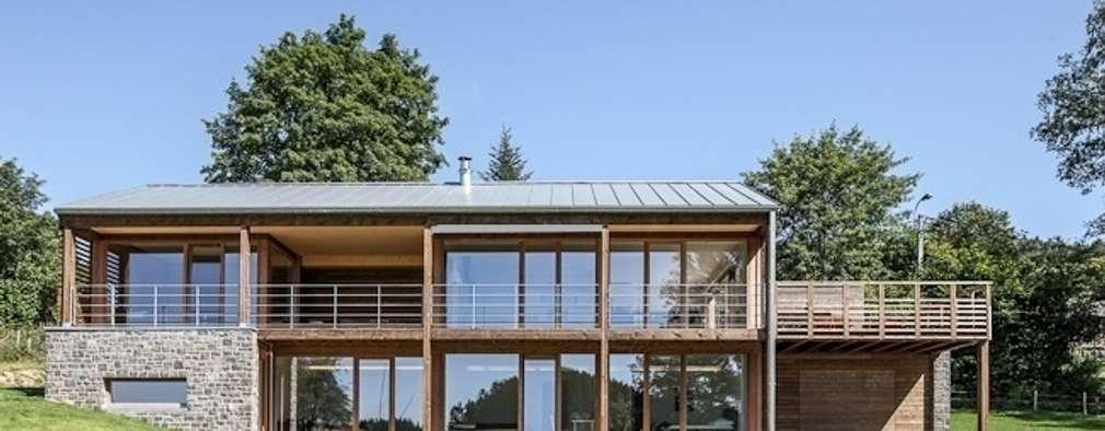 modern Houses by Pavillonchamps Atelier d'Architecture