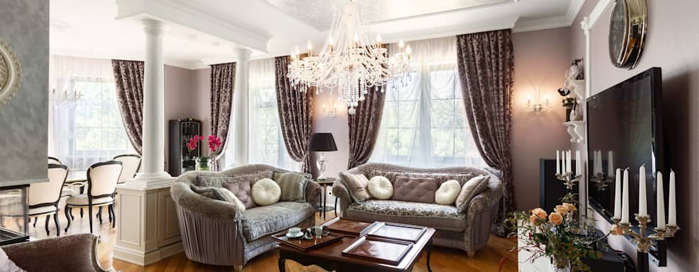 classic Living room by AGRAFFE design