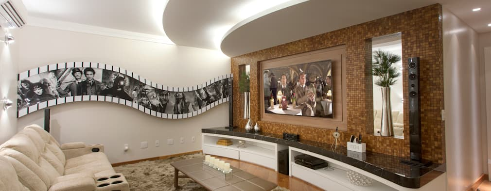 Salas de entretenimiento de estilo moderno por Arquiteto Aquiles Nícolas Kílaris