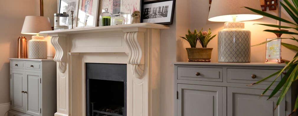 غرفة المعيشة تنفيذ Ruth Noble Interiors