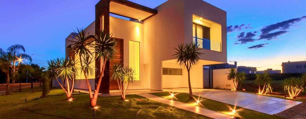 5 casas modernas con sus planos que te inspirar n a for Planos de casas 200m2