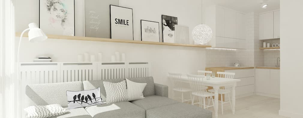 scandinavian Living room by 4ma projekt