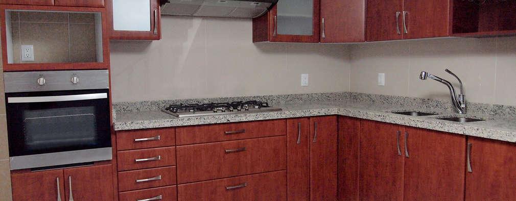 20 cocinas modernas con encimeras de m rmol y granito for Enchapes cocinas modernas