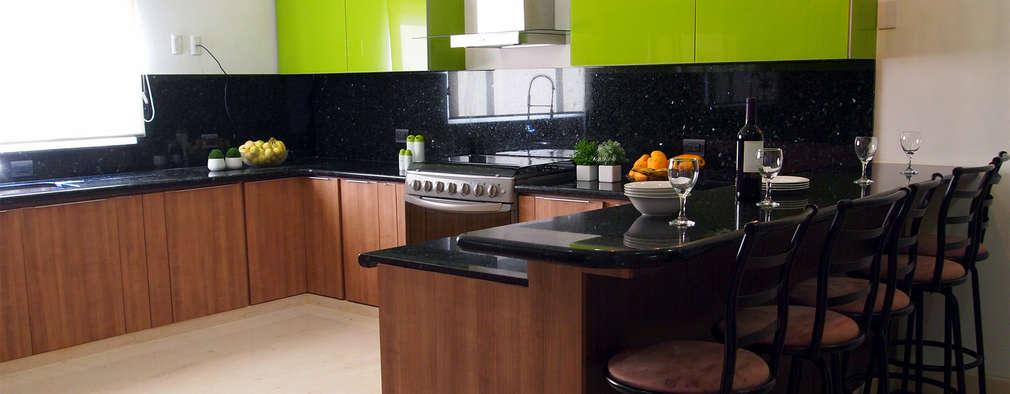 de estilo por amarillo interiorismo - Marmol Cocina