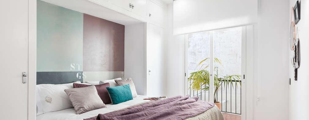 Projekty,  Sypialnia zaprojektowane przez Home Deco Decoración