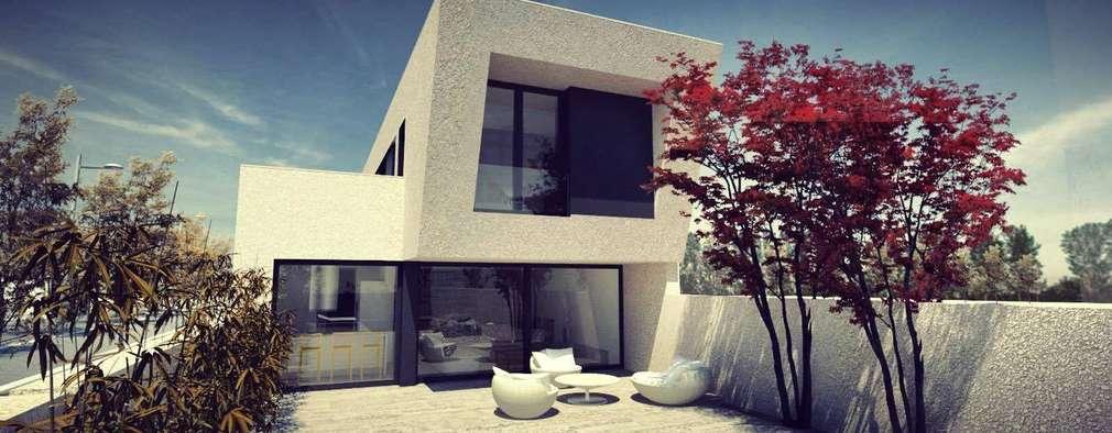 Casas de estilo moderno por Acero Modular S.L