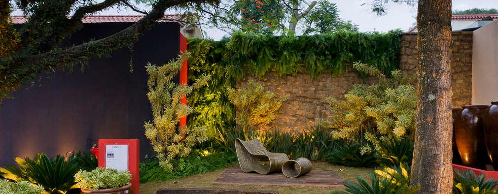 Folha Paisagismo: modern tarz Bahçe