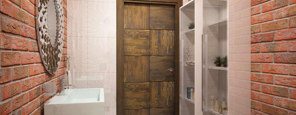 Квартира в скандинавском стиле в Перми: Ванные комнаты в . Автор – Студия дизайна интерьера Маши Марченко