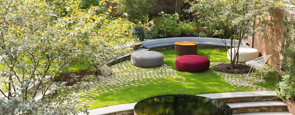 Bartholomew Landscaping design and installation of a London garden: modern Garden by Bartholomew Landscaping