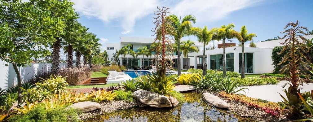 Jardins modernos por ricardo pessuto paisagismo