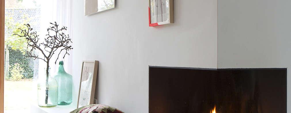 Boks architectuur: modern tarz Oturma Odası