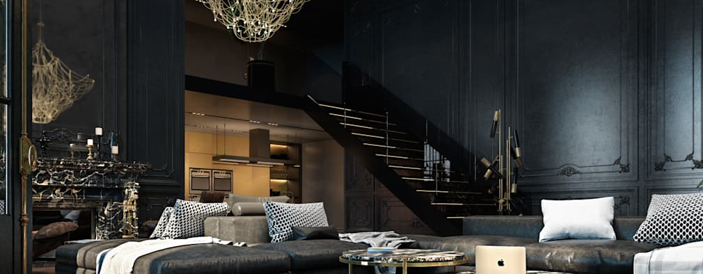 eclectic Living room by Diff.Studio
