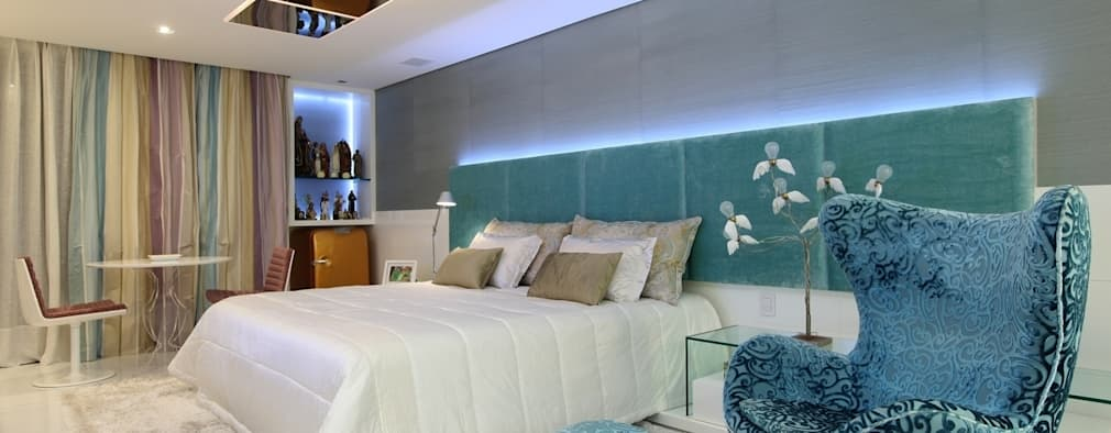 modern Bedroom by Rodrigo Maia Arquitetura + Design