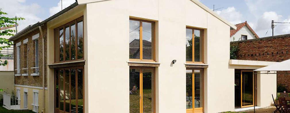 Réfection complète d'une maison à Colombes + extension, 170m² : Maisons de style de style Moderne par ATELIER FB