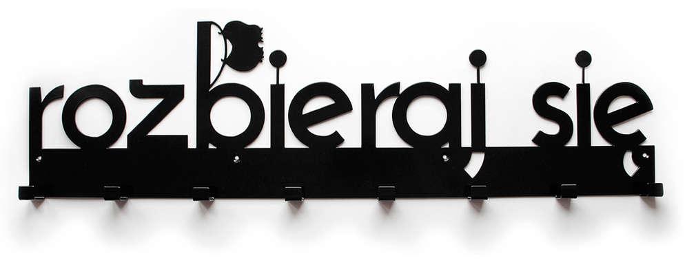 ROZBIERAJ SIĘ Wieszak do przedpokoju metalowy XXXL: styl , w kategorii Korytarz, hol i schody zaprojektowany przez Bucha