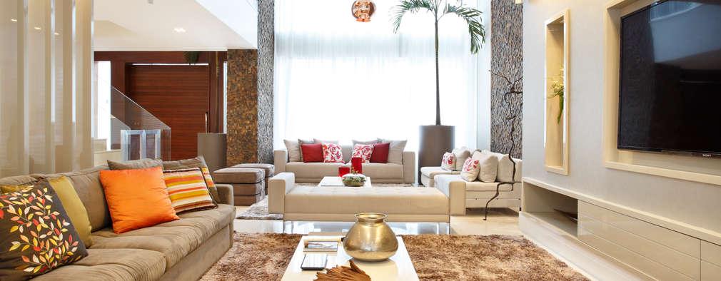 Arquitetura e Interior: modern tarz Oturma Odası