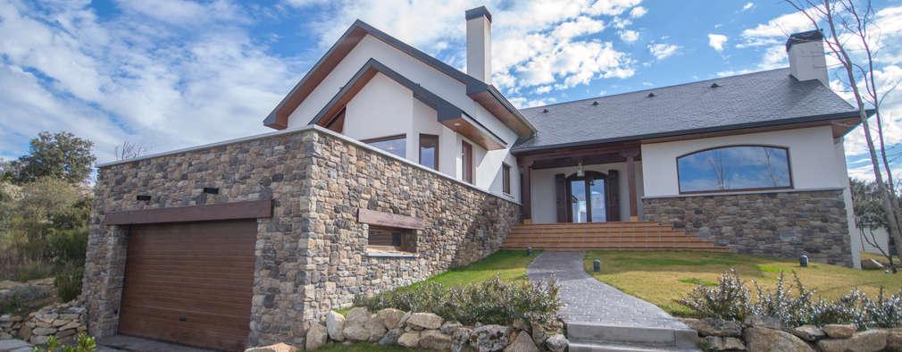 Projekty,  Dom rustykalny zaprojektowane przez Canexel